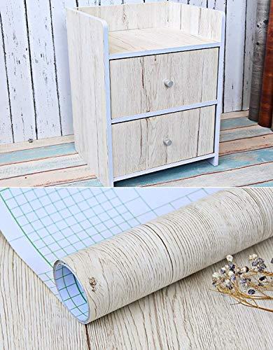 Weißes Ahornholz-Kontaktpapier, selbstklebend, Vinyl, für Regale, Schubladen, Möbel, Küchenschränke, Tisch, Theke, Kunst und Handwerk, Aufkleber 60 cm x 3 m