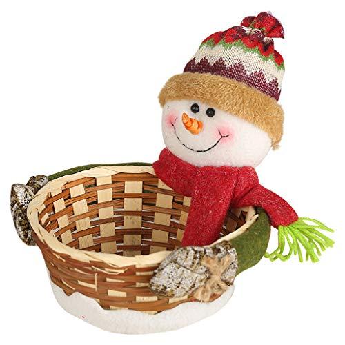 Kecar Merry Christmas Candy Storage Basket Decoration Santa Claus Storage Basket, Housekeeping & Organizers, Product for Home (B)