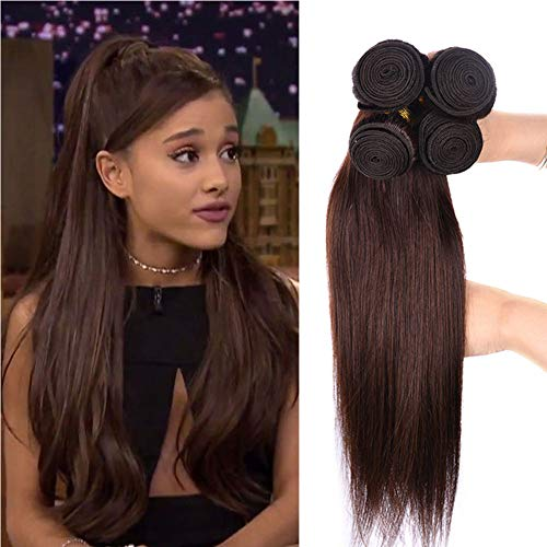 Black Rose Hair Peruvian Virgin Medium Auburn Straight Hair Weaves 8A Grade Virgin Huamn Hair 3 Bundles Pure Color 2#,16'18' 20'