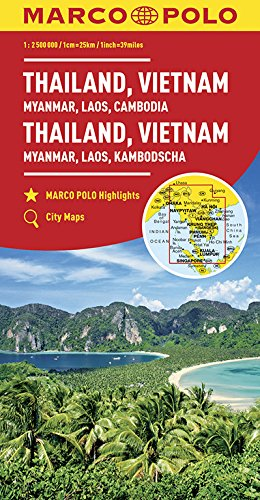 MARCO POLO Kontinentalkarte Thailand, Vietnam 1:2 500 000: Myanmar, Laos, Kambodscha (MARCO POLO Kontinental-/Länderkarten)