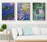 Reiichi 5d Diy Diamond Painting Monet Lotus Flower Scenery Pintura De Bordado Lirio De Agua Foto De Rhinestone Mosai 60x90cm NoFramed