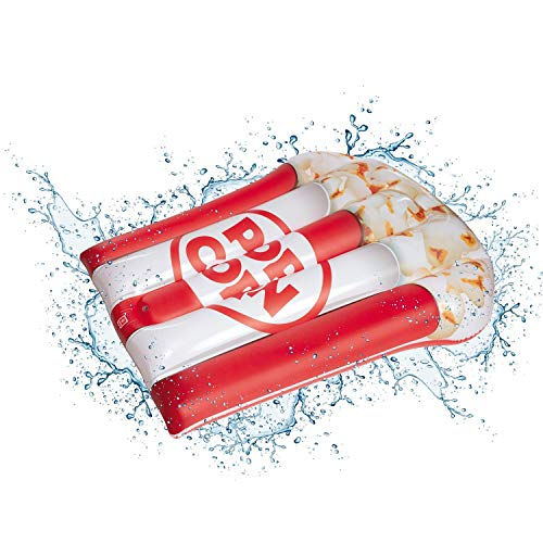 Mondo Toys - Air Mat Jumbo Pop Corn - Materassino d'acqua gonfiabile forma di Pop Corn - ideale per mare, spiaggia, piscina - per adulti e bambini - 78 x 183 cm - 16747