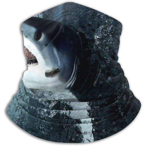 Linger In Blue Shark Neck Gaiter Face Mask Bandana Seamless Headband Ski Riding Running