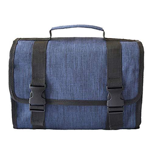 YYMMQQ Sac à Dos d'extérieur, Fashion Large Capacity Travel Cosmetic Bag Women Toiletry Wash Make up Storage Bags Men's Bathroom Makeup Organizer,Deep Blue