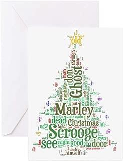 CafePress A Christmas Carol Word Cloud Greeting Card, Note Card, Birthday Card, Blank Inside Glossy