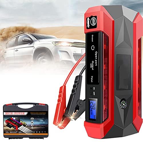 GGMWDSN Arrancador MultifuncióN para AutomóVil, Arrancador de Baterias de Coche, Kit de Herramientas de Banco de EnergíA PortáTil de Arranque de Emergencia de 12V 4Usb 600A