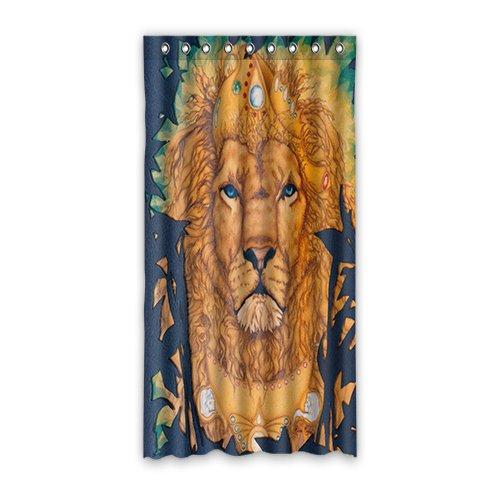 Doubee Custom Duschvorhänge Löwe Lion 100prozent Polyester Fenstergardinen 127cm x 244cm (1 Stück)