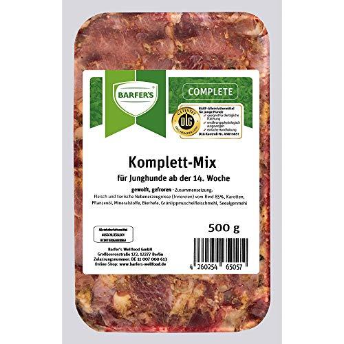 BARFER'S Komplett-Mix Junior 500g | Barf-Menü | Barfen für Junghunde & Welpen (40 x 500g (5,94 € / kg))