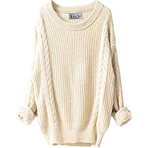 Women's Cashmere Oversized Loose Winter Warm Wool Pullover
