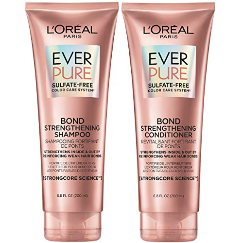 L'Oreal Paris EverPure Bonding Shampoo and Conditioner Kit for Color-Treated Hair, 6.8 Ounce (Set of 2)