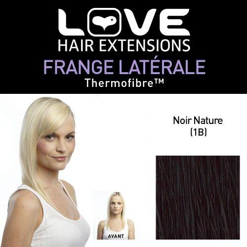 Love Hair Extensions Thermofiber Clip-In-Seitenpony Farbe 1B - Naturschwarz, 1er Pack (1 x 1 Stück)