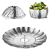 Steamer Basket, Kmeivol Vegetable Steamer, Stainless Steel Steamer Food, Value Steamer Baskets for...