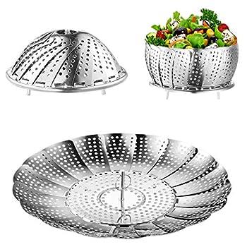 Steamer Basket Kmeivol Vegetable Steamer Stainless Steel Steamer Food Value Steamer Baskets for Cooking Healthy Steamer Basket Expandable to Fit Various Size Pot  6  to 8.7