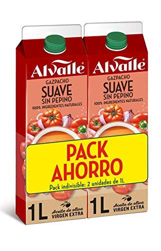 Alvalle Gazpacho Suave sin Pepino, 2 x 1L