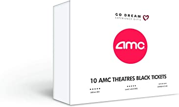 10 AMC Theatres Black Tickets Experience Gift Card - GO DREAM - Sent in a Gift Package