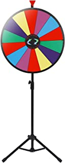 """Smartxchoices 24"""" Spinning Prize Wheel with Height Adjustable Stand 14 Slots Color.."""