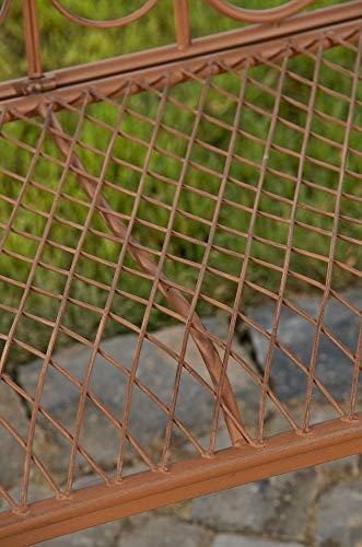 CLP Gartenbank TARA, Landhaus-Stil, Eisen lackiert, Design antik,113 x 47 cm, bis zu 5 Farben wählbar Antik Braun - 9
