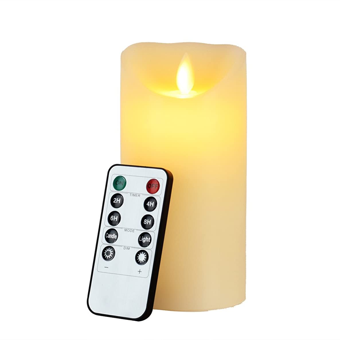 Flameless Candle, Eyourlife Led Candles 6 inch Flameless Candles Ivory Christmas Candle Electric Flameless Flickering Candle Remote Control with Timer Battery Operated Pillar Candles