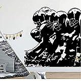 Stickers muraux et peintures murales Joueur de Football Lineup Wall Decal Garçon Chambre Chambre Rugby Sport Player Athlète Wall Sticker Vinyle Enfants Chambre Salle De Jeux 45 * 47com