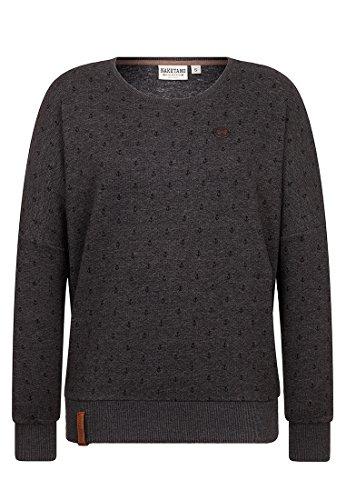 Naketano Damen Sweater Jane Forensik Sweater,anthracite melange,S