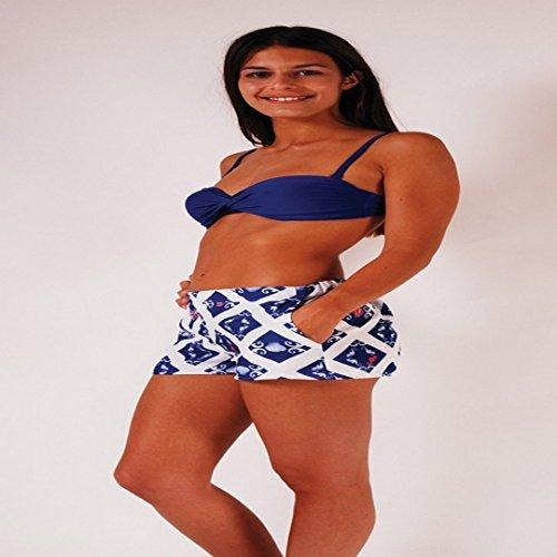 L.Bolt Blue Ocean The Web Pantalones Cortos de Surf, Mujer, Multicolor, 26