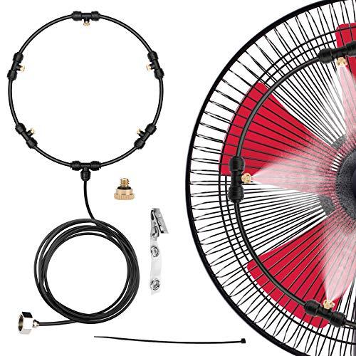 HONYOU Fan Misting Cooling Kit for DIY Outdoor Mist Fan 19.6 Ft