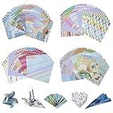 Comius Sharp 200 Hojas Papel Origami, Papel para Papiroflexia en el 48 Diferente Modelos, para Origami para Niños, Adultos Proyectos de Arte y Manualidades (Estilo 3)