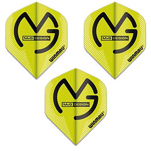 Winmau Mega Standard Michael Van Gerwen Dart Flights, MvG Green, 75 Micron (1 Set)