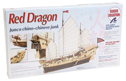 Artesanía Latina 18020. Maqueta de Barco en Madera Junco Chino Red Dragon 1/60