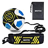 BROTOU Soccer Trainer Volleyball Football Kick Trainer Solo Skill Practice...