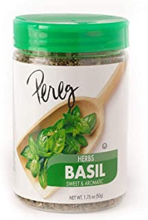 Dried Basil Leaves (1.75 oz) | Pure & Natural Herb for Sweet And Aromatic Flavor | Kosher Certified, Non-GMO, Non-Irradiat...