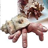 HKPUFJH Modelo De Cangrejo De Dedo Realista Extraño, Adorno De Escritorio De Terror, Escultura De Cangrejo Ermitaño De Dedo, Estatua De Resina De Terror Realista Extraño Espeluznante, para Decoración