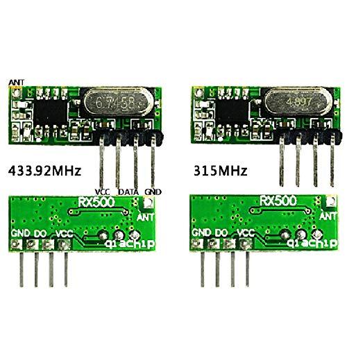HAPPY LEMON Funkmodul Praktisches Praktisches 23.5 * 9 * 1mmASK 315M / 433M High Sensitivity Superheterodyne Wireless Receiver-Modul Ersetzt SYN480 RXB51 / 61, RX500 Empfängermodul Empfangsmodul