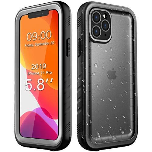 SPORTLINK Funda Impermeable para iPhone 11 Pro, IP68 Waterproof Carcasa Resistente al Agua con Protector de Pantalla Incorporado para Apple iPhone 11 Pro (2019) 5,8 Pulgada