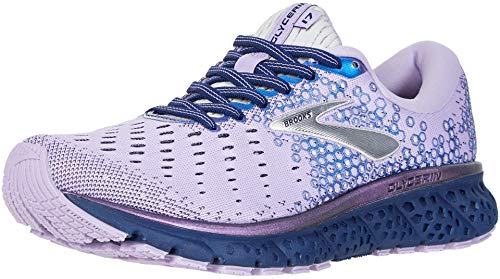 Brooks Womens Glycerin 17 Running Shoe - Purple/Navy/Grey - B - 9.0