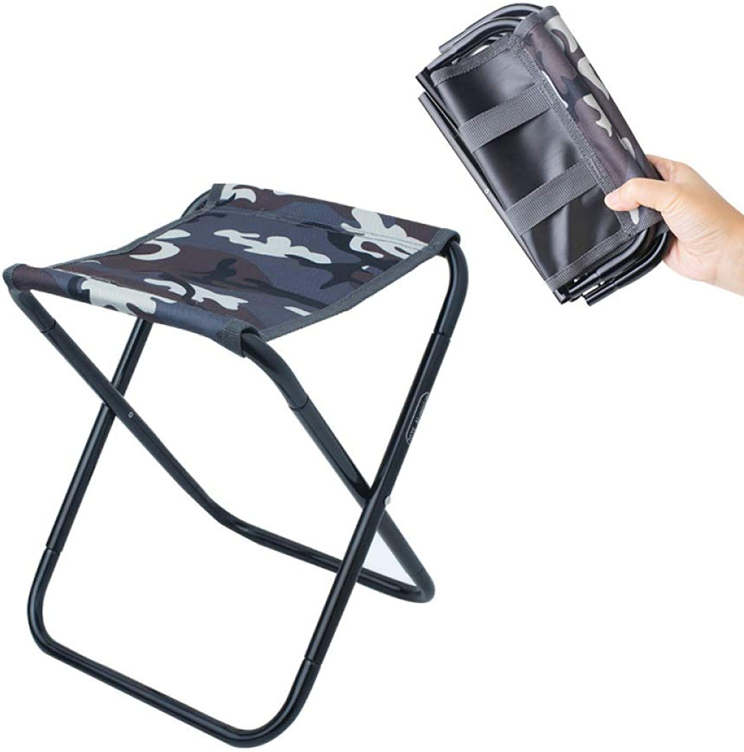 Outdoor Folding Stool Aluminum Fishing Chair Barbecue Stool Folding Chair Portable Train Mazar Camping Chair