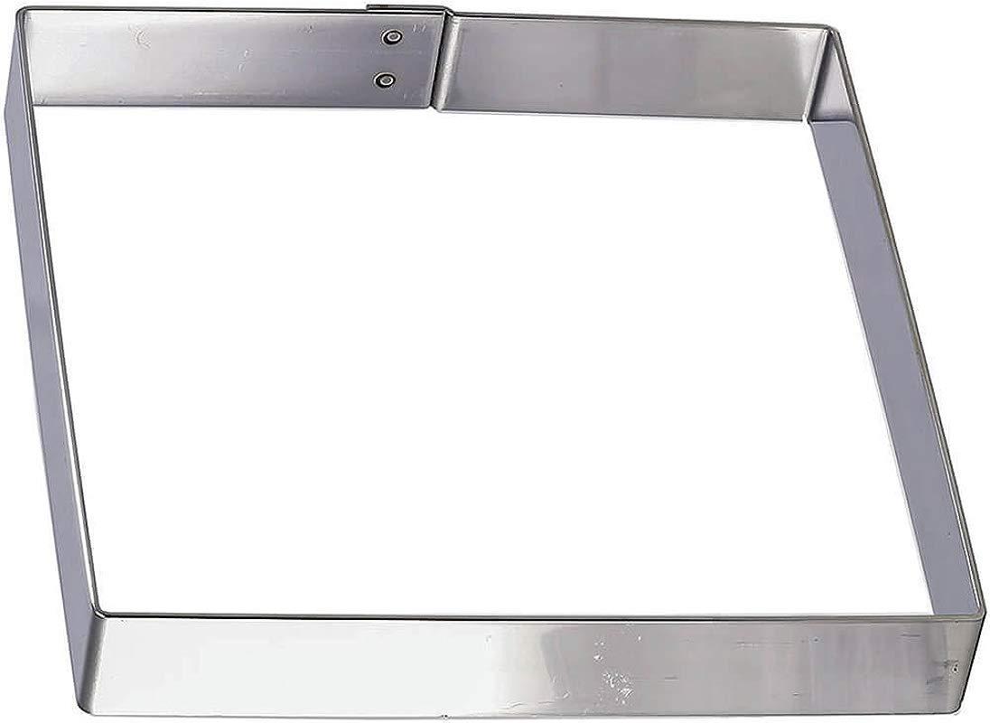 Matfer Bourgeat 371110 Square Cake Frame Silver