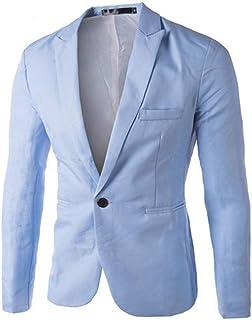 Charm Men Casual Fit Slim Button One Suit Blazer Comfortable Sizes Coat Jacket Tops Men's Fashion