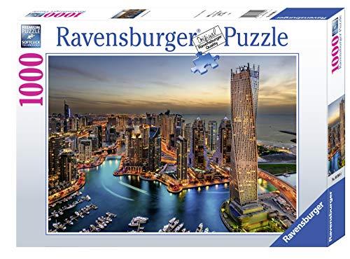 Ravensburger, Puzzle 1000 Pezzi, Dubai Marina di Notte, Puzzle per Adulti, Linea Foto & Paesaggi, Relax, Stampa di Alta Qualità, Dimensioni 70x50 cm