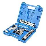 Kit de Herramientas de Desbrozamiento de Tubos, 5 en 1 para Reparación de Refrigeración, Tubería de Cobre, Herramienta de Abocinamiento