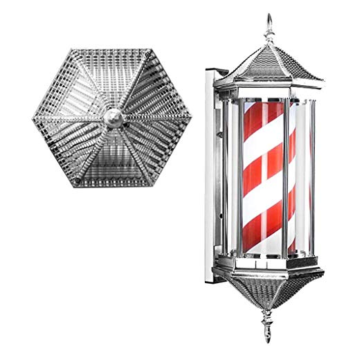 Preisvergleich Produktbild YGB Wasserdichtes Pole Light,  Led Friseur Pole Light Retro Friseursalon Zeichen Licht Rotierende Beleuchtung Wandmontage Palace Laterne