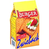 Burger Zwieback (Rusk Bread) -Pack of 4 X 225 G