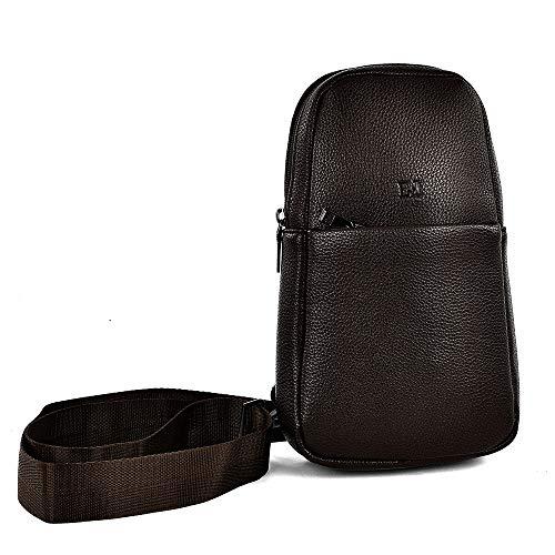 EGON FURSTENBERG - Bolso para hombre de piel sintética, bolso pequeño, bandolera sin solapa, color marrón