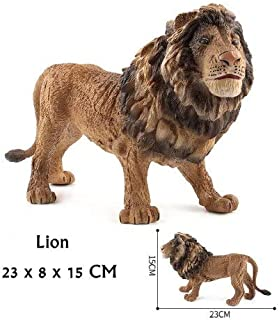 EOFK Animal World Zoo Model Figure Tiger Lion Zebra Action Toy Set Cartoon Simulation Animal Lovely Plastics Collection Toy for Kids Boy Must Haves The Favourite Anime 4T Superhero