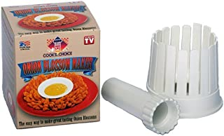 Cook's Choice (151) Onion Blossom Maker Set, White All-in-One Blooming Onion Set with Corer