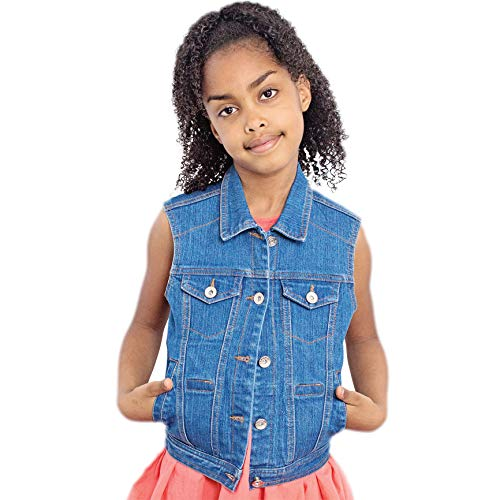 Fun and Function's Denim Weighted Vest for Children Large (Age 9-10) – Helps Kids with Sensory Issues, Autism, ADHD, Mood, Sensory Over Responding, Travel Issues – Gentle Compression, Weights Included