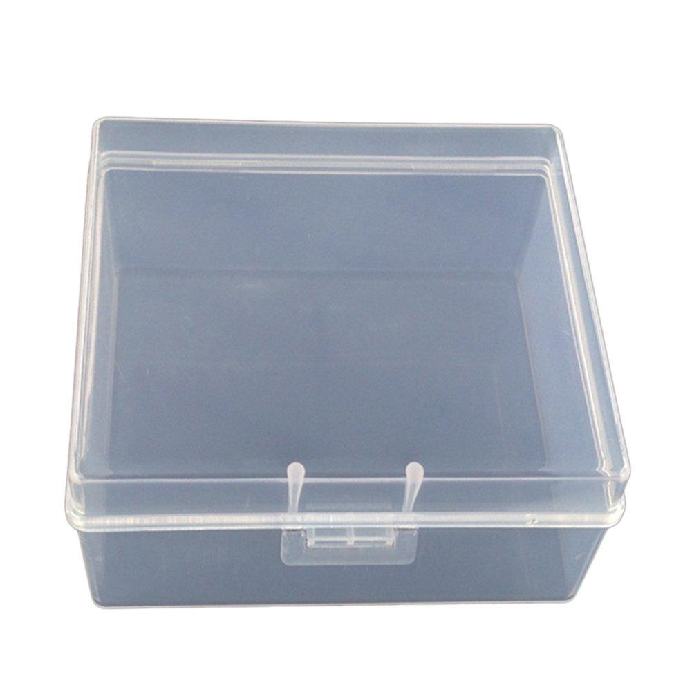 CAOLATOR Multifuncional Portátil Caja de Almacenamiento de Plástico Transparente Caja de Acabado Caja de Joyería,Organizadores de Maletas,Neceser Caja del Organizador: Amazon.es: Hogar