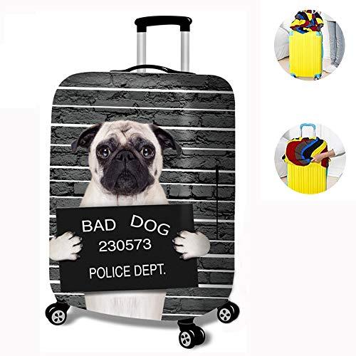 Elástico Funda Protectora de Maleta Cubierta de Equipaje de Viaje Maleta Funda Protectora Luggage Cover, Protector de Maleta Divertida de Dibujos Animados para Equipaje, Estampado Animal,B-M