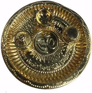 Shubhkart Puja Set Thaali, Decorative Brass Thaali, Hindu Puja Thaali