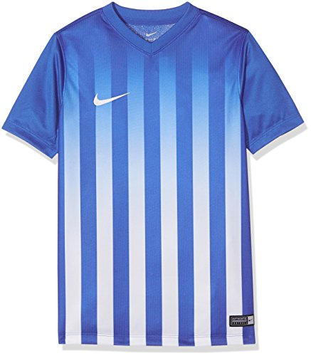 Nike Kinder Striped Division II Fußball Trainingstrikot, blau/Weiß, L-147/158 cm